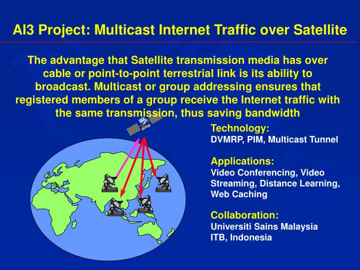 AI3 Project: Multicast Internet Traffic over Satellite