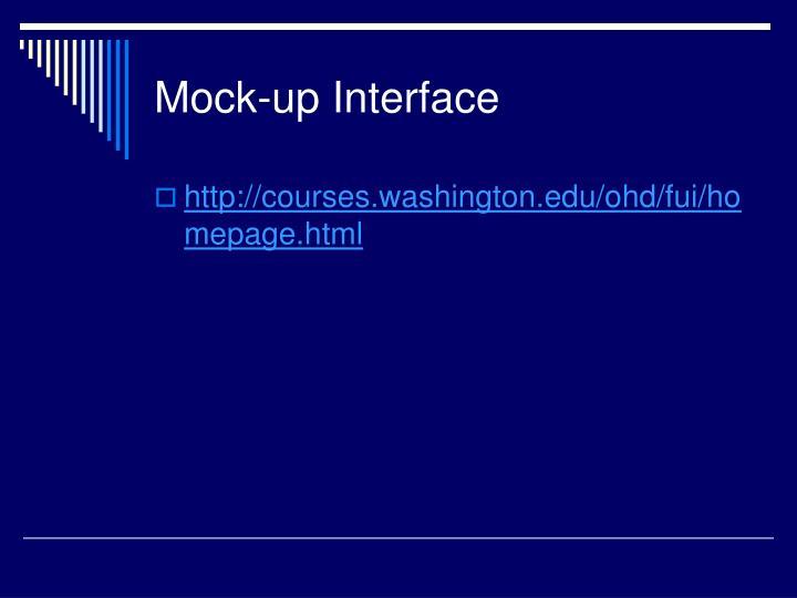 Mock-up Interface