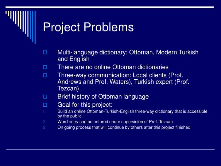 Project Problems