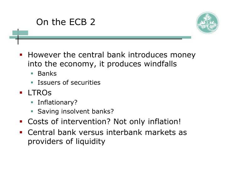 On the ECB 2