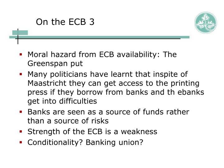 On the ECB 3