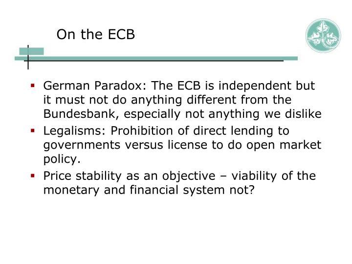 On the ECB