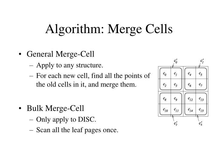 Algorithm: Merge Cells