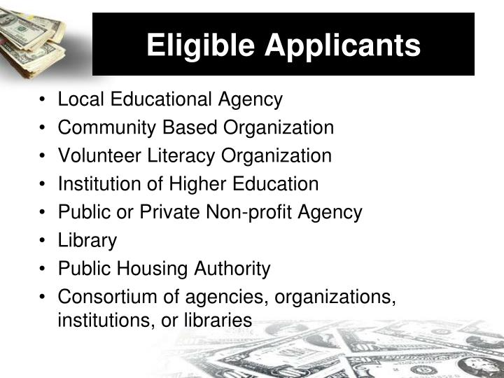 Eligible Applicants