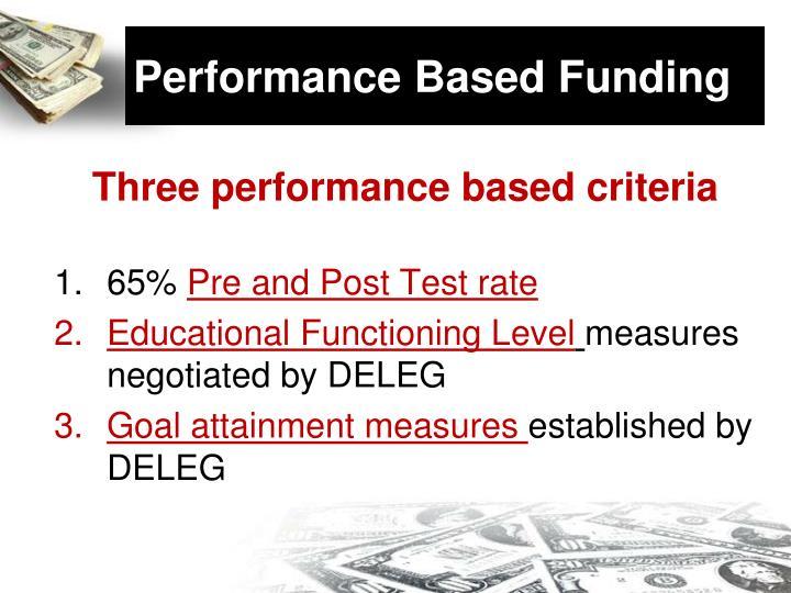 Performance Based Funding