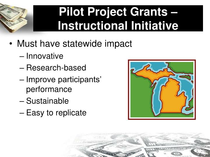 Pilot Project Grants – Instructional Initiative