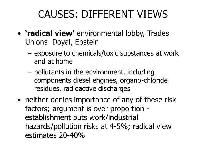 CAUSES: DIFFERENT VIEWS