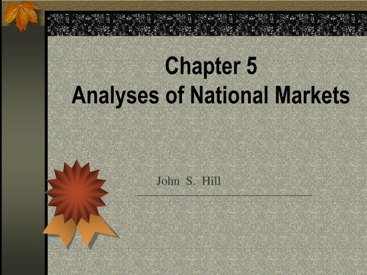 chapter 5 analyses of national markets