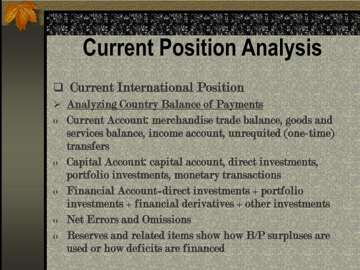 Current Position Analysis