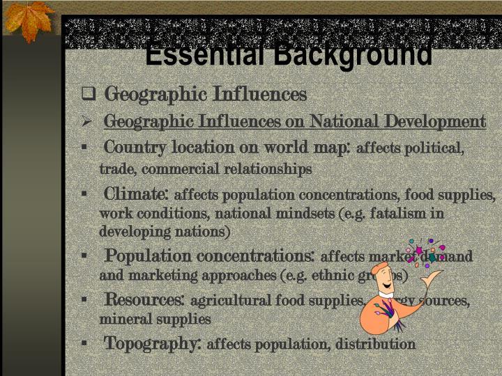 Essential Background
