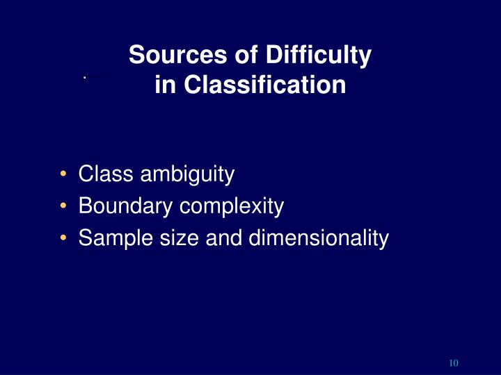 Sources of Difficulty