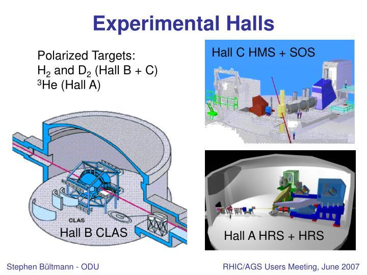Experimental Halls