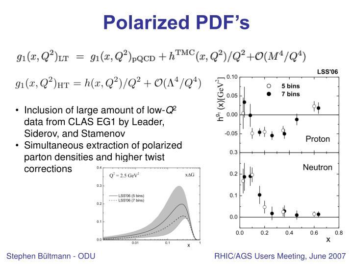 Polarized PDF's