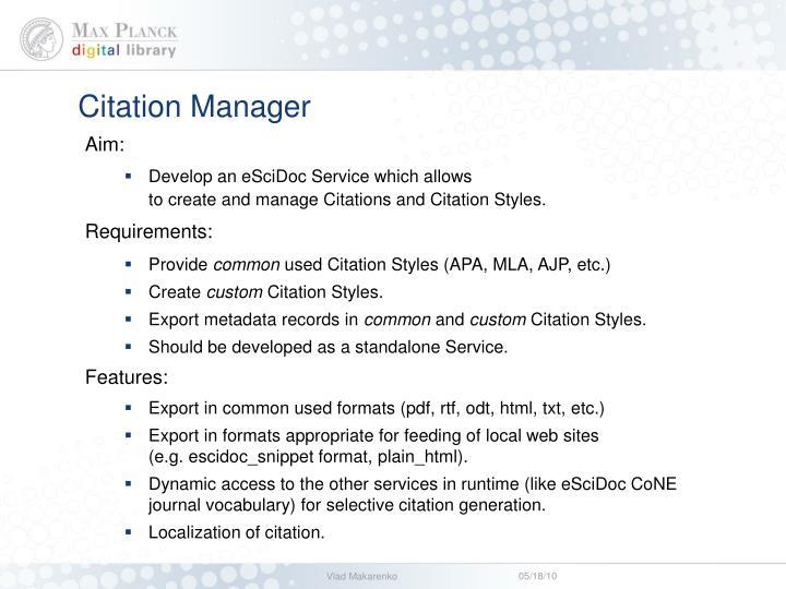 Citation Manager