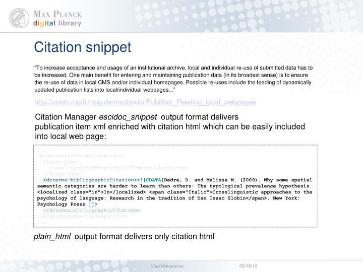 Citation snippet
