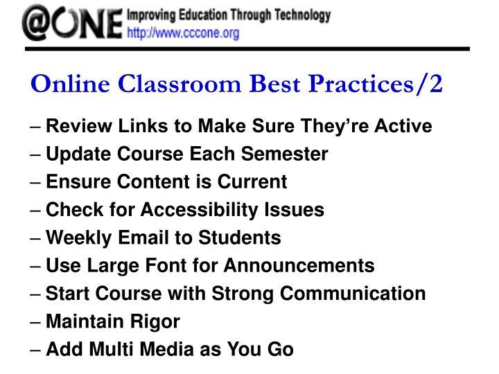 Online Classroom Best Practices/2