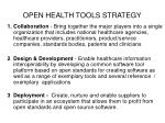 open health tools strategy