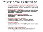 what is open health tools