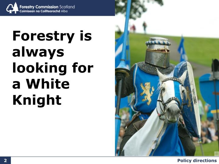 Forestry is always looking for a White Knight