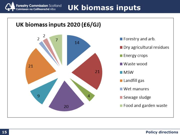 UK biomass inputs