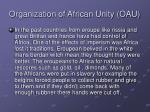 organization of african unity oau1