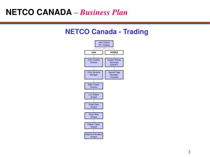 Netco canada business plan