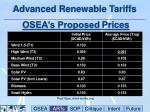 advanced renewable tariffs osea s proposed prices