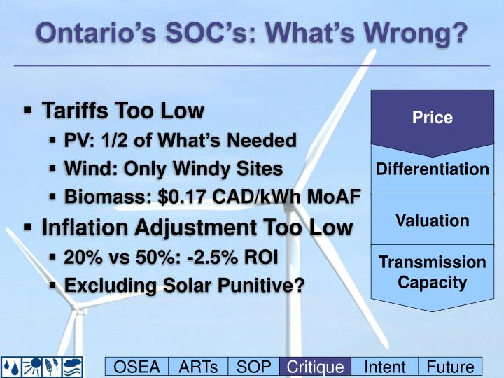 Ontario's SOC's: What's Wrong?