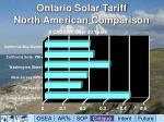 ontario solar tariff north american comparison