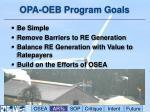opa oeb program goals