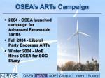 osea s arts campaign