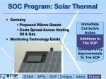 soc program solar thermal