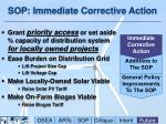sop immediate corrective action