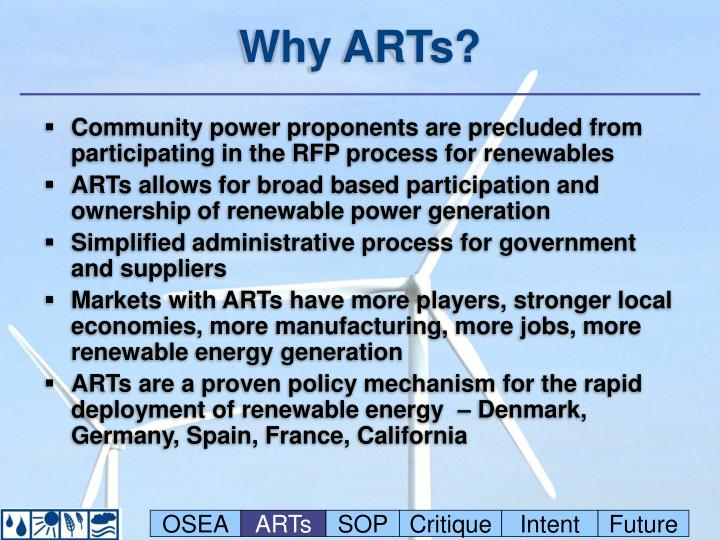 Why ARTs?
