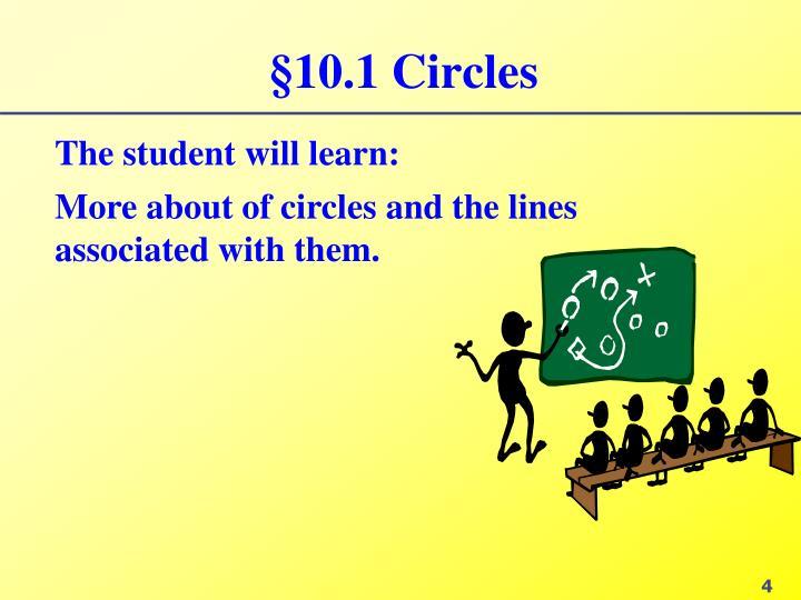 §10.1 Circles