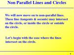 non parallel lines and circles