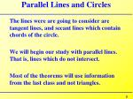 parallel lines and circles