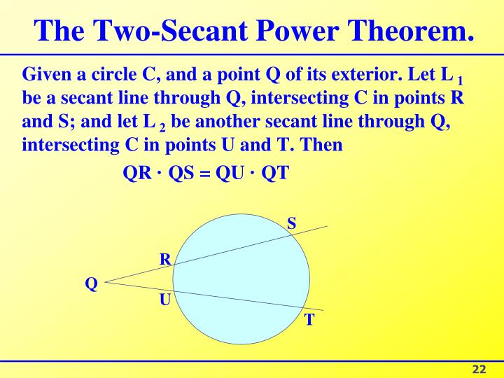 The Two-Secant Power Theorem.