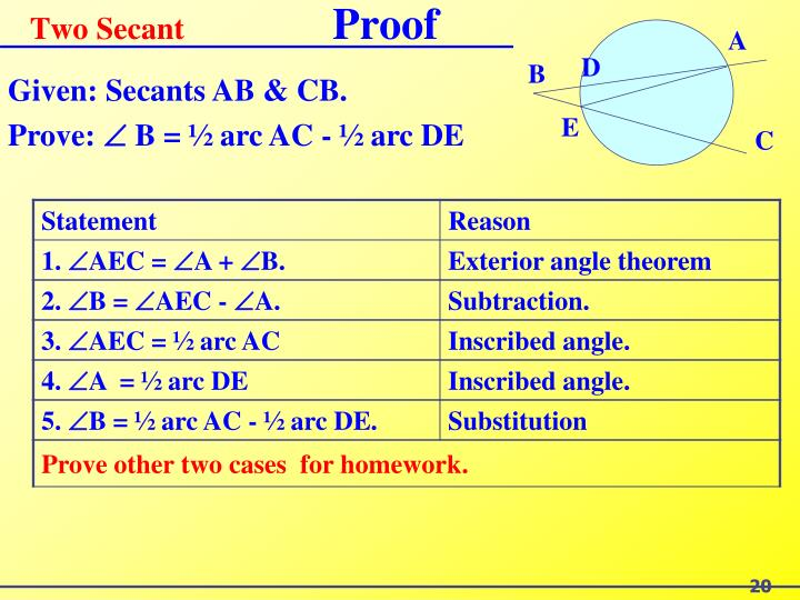 Two Secant
