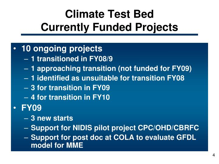 Climate Test Bed