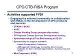 cpc ctb risa program2