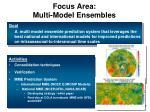 focus area multi model ensembles