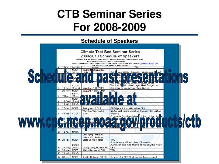 CTB Seminar Series