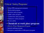 critical safety programs1