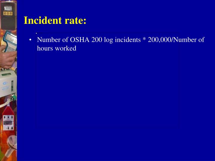 Incident rate: