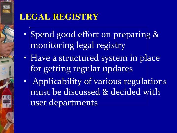 LEGAL REGISTRY