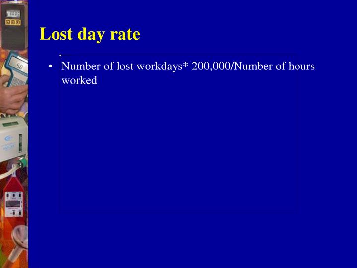 Lost day rate
