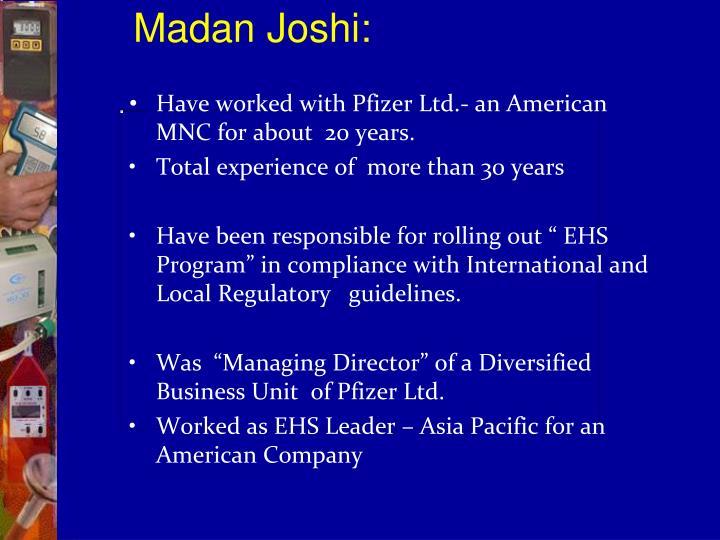 Madan Joshi: