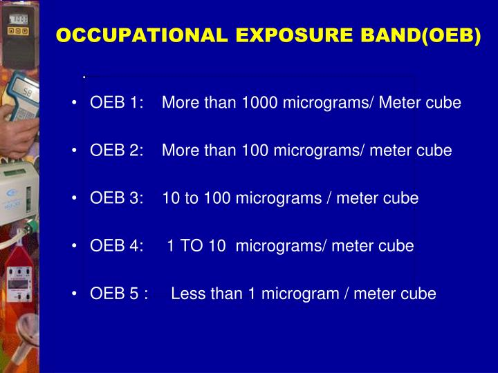 OCCUPATIONAL EXPOSURE BAND(OEB)