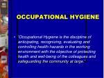 occupational hygiene1